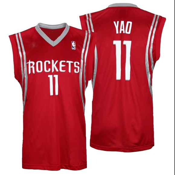 super popular 66187 b1bc5 Yao Ming Rockets Authentic Red Basketball Jersey
